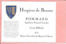 Etiquette Neuve Des Hospices De Beaune Pommard Cuvée Billardet - Bourgogne