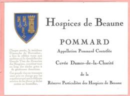 Etiquette Neuve Des Hospices De Beaune Pommard Cuvée Dames-de-la-Charité - Bourgogne