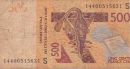 500 Francs CFA - Banque Centrale Des états De L'Afrique De L'ouest - Utilisé -  2012 - 14400515631S - Banknoten