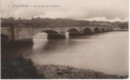 BAYONNE : Le Pont Sur L'Adour - RARE VARIANTE - Cachet De La Poste 1914 - Bayonne
