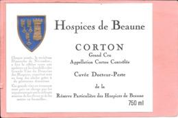Etiquette Neuve Des Hospices De Beaune Corton Grand Cru Cuvée Docteur-Peste - Bourgogne