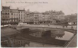 BAYONNE : Le Pont Marengo Et Quai - Pont Mayou - RARE VARIANTE - Cachet De La Poste 1914 - Bayonne