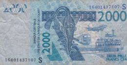 2000 Francs CFA - Banque Centrale Des états De L'Afrique De L'ouest - Utilisé -  2003 - 16401437107S - Banconote