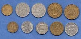 Colonies  -  Lot De 10 Monnaies - Colonies