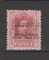 ANDORRA CORREO ESPAÑOL N º 2  SELLO SIN CHARNELA  VARIEDAD DOBLE NUMERACIÓN POE DESPLAZAMIENTO (K. 1) - Nuevos