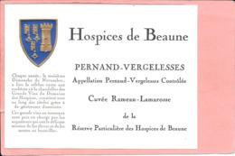 Etiquette Neuve Des Hospices De Beaune Pernand-Vergelesses Cuvée Rameau-Lamarosse - Bourgogne