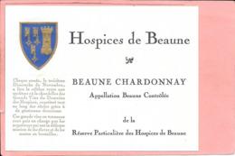 Etiquette Neuve Des Hospices De Beaune Beaune-Chardonnay - Bourgogne