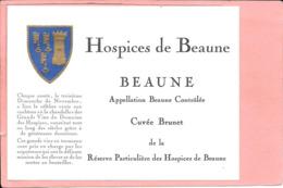 Etiquette Neuve Des Hospices De Beaune Beaune Cuvée Brunet - Bourgogne