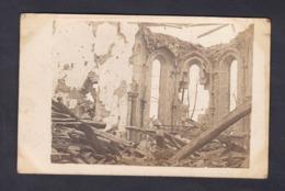 Carte Photo Guerre 14-18 Xivray Marvoisin (55) Interieur Eglise De Xivray ( Statue De La Vierge Intacte ) - Francia