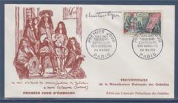 = Louis XIV Visitant Les Gobelins En 1662 Enveloppe 1er Jour Paris 26.5.62 N°1343 - FDC
