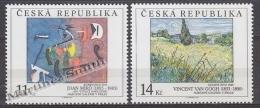 Czech Republic - Tcheque 1993 Yvert 25-26 Art,  Paintings National Gallery, Miro & Van Gogh - MNH - Tschechische Republik