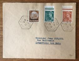 France, 1940, Mixte TP Surchargé LOTHRINGEN - Moselle - (B1605) - 1921-1960: Periodo Moderno