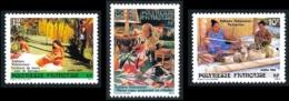 POLYNESIE 1986 - Yv. 263 264 Et 265 **   Cote= 1,70 EUR - Folklore (3 Val.)  ..Réf.POL24521 - Ungebraucht