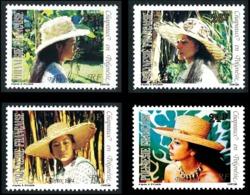 POLYNESIE 1984 - Yv. 212 213 214 Et 215 **   Faciale= 0,87 EUR - Chapeaux En Polynésie (4 Val.)  ..Réf.POL24503 - Französisch-Polynesien