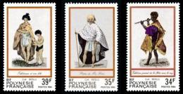 POLYNESIE 1984 - Yv. 216 217 Et 218 **   Faciale= 0,91 EUR - Gravures Anciennes (3 Val.)  ..Réf.POL24504 - Französisch-Polynesien