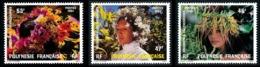 POLYNESIE 1984 - Yv. 219 220 Et 221 **   Faciale= 1,23 EUR - Couronnes De Fleurs (3 Val.)  ..Réf.POL24505 - Neufs