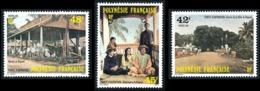 POLYNESIE 1985 - Yv. 233 234 Et 235 **   Faciale= 1,13 EUR - Tahiti D'autrefois: Papeete (3 Val.)  ..Réf.POL24510 - Französisch-Polynesien