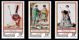 POLYNESIE 1985 - Yv. 238 239 Et 240 **   Faciale= 1,37 EUR - Folklore. Gravures Anciennes (3 Val.)  ..Réf.POL24512 - Frans-Polynesië