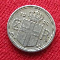 Iceland 10 Aurar 1922 KM# 1.1  Islande Islanda Islandia Island - Iceland