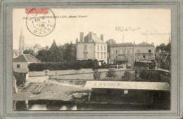CPA - MONTMORILLON (86) - Aspect Du Lavoir Sur La Vienne, De L'Hôtel De France Et Du Café Du Commerce En 1906 - Montmorillon