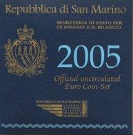 SAN MARINO 2005 - FDC - 9 COINS - San Marino