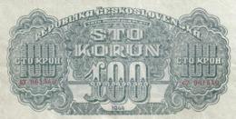 Czechoslovakia 100 Korun 1944 Serie OV (CV?) UNPERFORATED - Czechoslovakia