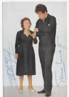 CP ARTISTE Edith Piaf Et Theo Sarapo Avec Autographes - Chanteurs & Musiciens