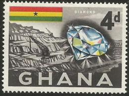 Ghana - 1959 Diamond Mine 4d MLH * - Ghana (1957-...)