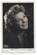 ALBERTE TINELLI Chanteuse Lyrique 1956 Opéra Opérette AUTOGRAPHE Dédicacée - Photographie Studio Hollywood, La Canebière - Fotos Dedicadas