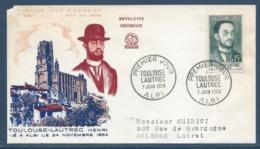 France - FDC - Premier Jour - Toulouse Lautrec - Albi - 1958 - FDC