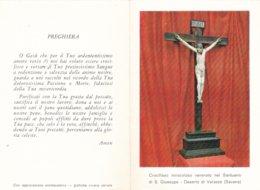 PIEGHEVOLE CROCIFISSO VENERATO NEL SANTUARIO DI S. GIUSEPPE DESERTO DI VARAZZE SAVONA - Religion & Esotérisme