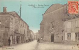 CPA 17 Charente Maritime Inférieure Jonzac Rue Des Carmes Palais De Justice Tabac - Jonzac
