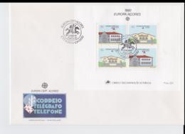 Acores 1990 FDC Europa CEPT Souvenir Sheet (LAR8-52) - 1990