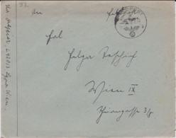 German Feldpost WW2: Luftwaffen-Lazarett Bukarest (in Romania) FP L42013 LGPA Wien P/m 13.2.1942 - Letter Inside - Militaria