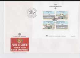 Madeira 1990 FDC Europa CEPT Souvenir Sheet (LAR8-52) - Europa-CEPT
