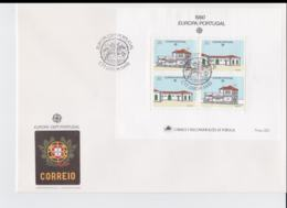 Portugal 1990 FDC Europa CEPT Souvenir Sheet (LAR8-52) - 1990