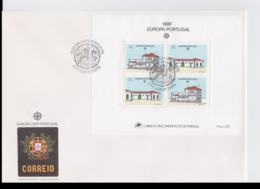 Portugal 1990 FDC Europa CEPT Souvenir Sheet (LAR8-52) - Europa-CEPT