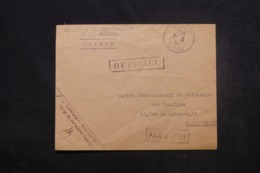 FRANCE / INDOCHINE - Enveloppe Du Commissariat De La Marine De Saïgon Pour Paris En 1952 Par Avion En Franchise - 45480 - Marcophilie (Lettres)
