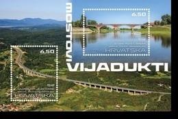 HR 2019-1376-7 BRIDGES, HRVATSKA CROATIA, S/S. MNH - Puentes