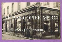 DIJON - RARE CARTE PHOTO Devanture De Commerce En Gros Plan - Ganterie Bonneterie Angle Rue Liegeard Et Rue Des Forges - Dijon