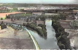 02 - VENIZEL Vue Panoramique Sur L'Ile De VILLENEUVE ST GERMAIN - Jolie CPSM Village (1.400 H) Format CPA 1964 - Aisne - Autres Communes