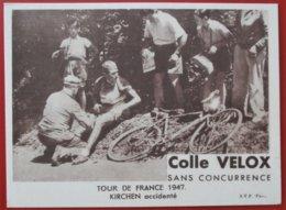 TOUR DE FRANCE 1947 Kirchen Accidente COLLE VELOX - Cycling