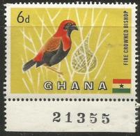 Ghana - 1959 Fire Crowned Bishop 6d MNH ** - Ghana (1957-...)