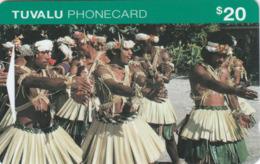 Tuvalu - Men Doing Traditional Dancing - OITID - Tuvalu