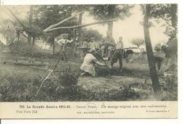 59 - GUERRE 1914-1915 / FRONT NORD - UN MANEGE ORIGINAL AVEC AERO RUDIMENTAIRE - France