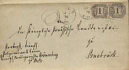 1871 MELLE  Bfh. 2 Gr. NDP N.Osnabrück-Marken Einzeln Geklebt - Germany
