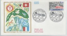 France - FDC 1er Jour - 15 Juin 1985 -  Sauvetage Du Lac Léman - FDC