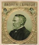 étiquette De Cigare Gaufrée Neuve Andrew Carnegie - Etiketten