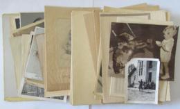 Lot De 26 Photos Anciennes De Personnes Dont Hommes, Femmes, Enfants, Bébés - Une Avec Un Ourson - Personnes Anonymes