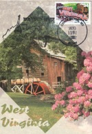 D38473 CARTE MAXIMUM CARD 2002 USA - WATER MILL WEST VIRGINIA GLADE CREEK GRIST MILL CP ORIGINAL - Molinos